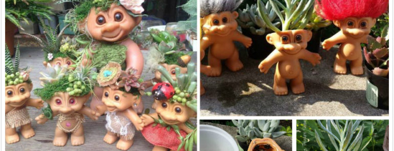 How to DIY Troll Doll Planters ( SO Unique )