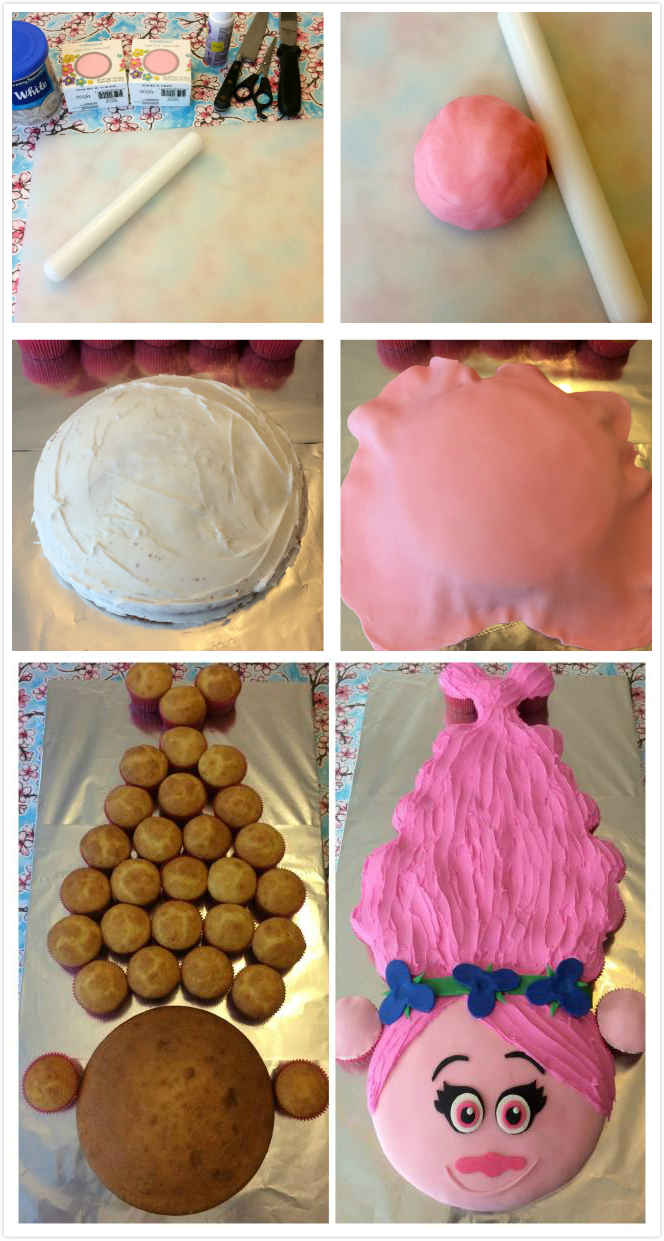 How to Make Pull Apart Princess Poppy cake